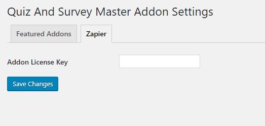 QSM Zapier Addon Settings