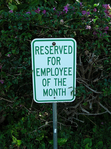 Employee engagement with parking spot
