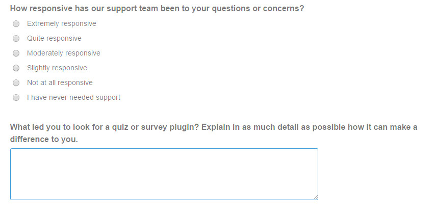 Easily Collect Survey Responses