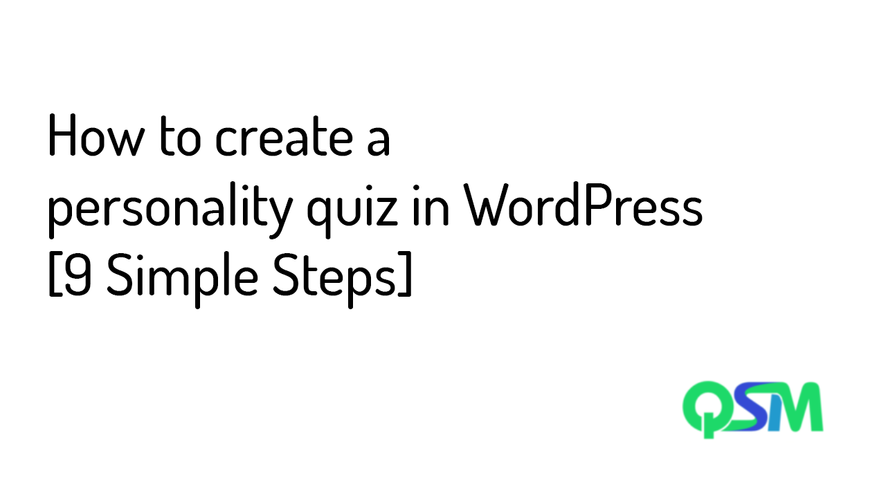 How to create a personality quiz in WordPress [9 Simple Steps] - banner