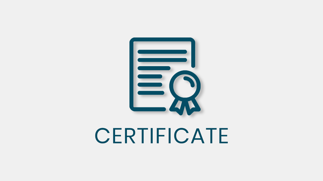 Certificate quiz and survey